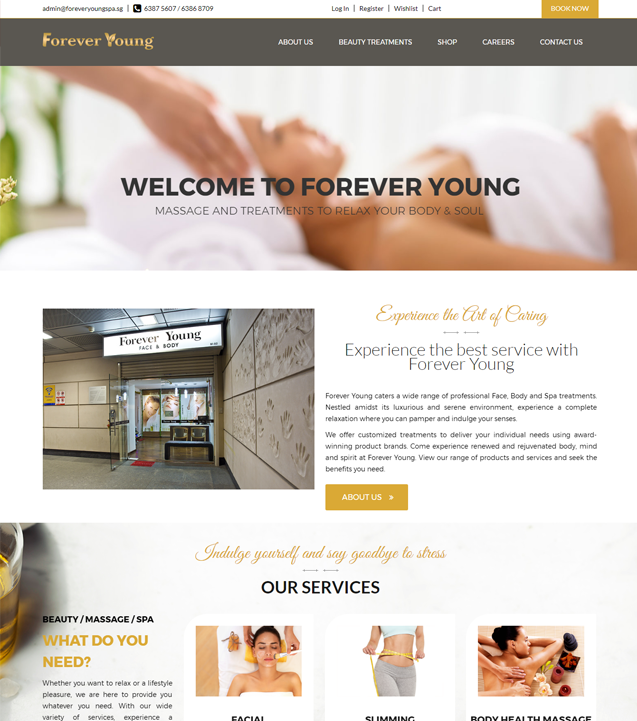 Forever Young Website